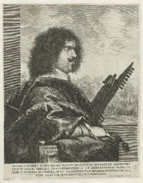 Portrait of the composer and lutenist Jacques Gaultier