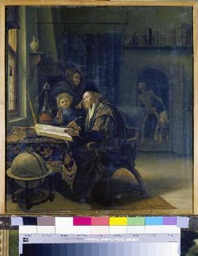 Steen, Jan Havickszoon : Scholar at the studying ta...