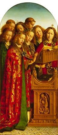 van Eyck, Jan : Genter altar, singing ange...