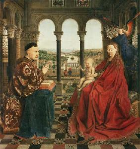 van Eyck, Jan : Madonna with the chancello...
