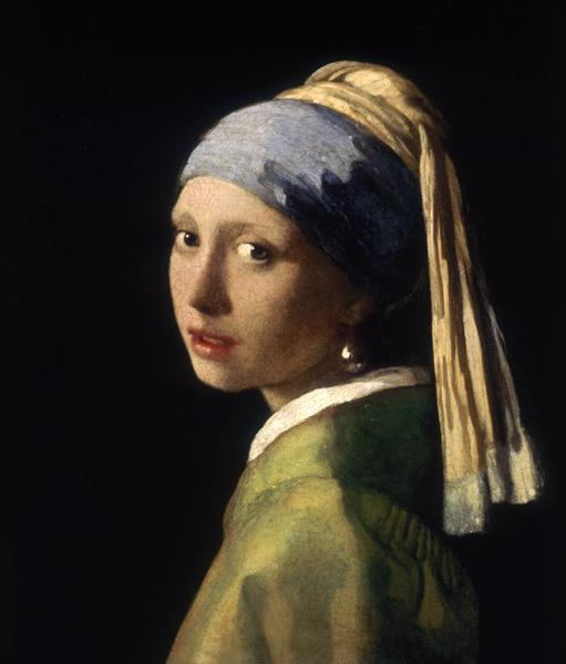 Girl with a Pearl Earring (before restoration) um 1665