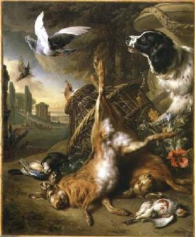 Still Life with Dead Game and Hares