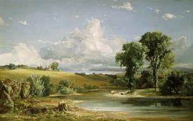 Cropsey, Jasper Francis : Summer afternoon over the ...
