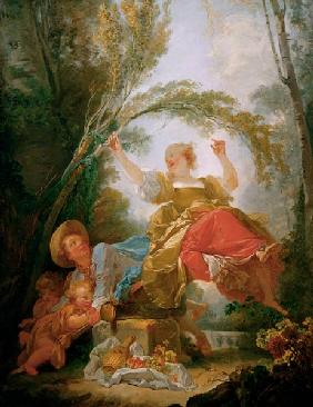 Jean-Honor?� Fragonard, The Swing