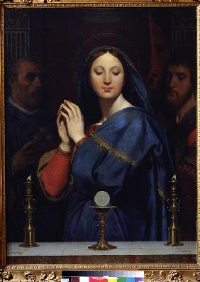 Ingres, Jean Auguste Dominique : Virgin before the Host