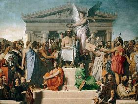 Ingres, Jean Auguste Dominique : Apotheosis Homers