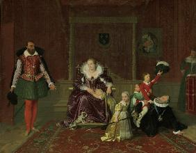 Ingres, Jean Auguste Dominique : Henry IV w.his Children......