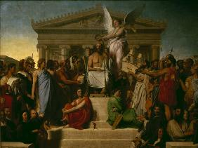 Ingres, Jean Auguste Dominique : Apotheosis of Homer