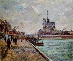 Guillaumin, Jean-Baptiste Armand : Seinequai in Paris with lo...