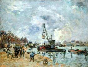 Guillaumin, Jean-Baptiste Armand : At the Quay de Bercy in Pa...