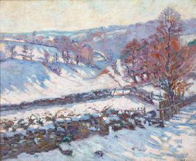 Snowy Landscape at Crozant