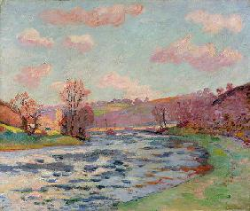 Banks of the Creuse, Limousin, c.1912 (oil on canvas)