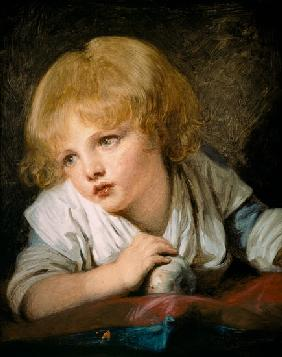 Greuze, Jean Baptiste : Child with an Apple