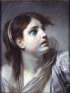 Greuze, Jean Baptiste : Head of a Young Girl