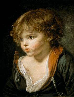 Greuze, Jean Baptiste : A Blond Haired Boy with an...