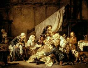 Greuze, Jean Baptiste : The Paralytic