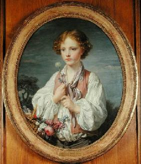 Greuze, Jean Baptiste : Young Boy with a Basket of...