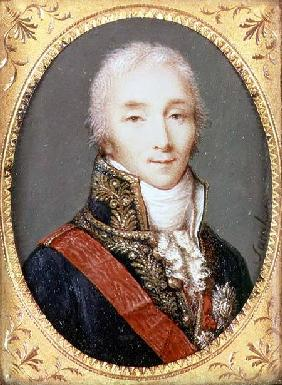 Miniature of Joseph Fouche (1759-1820) Duke of Otranto