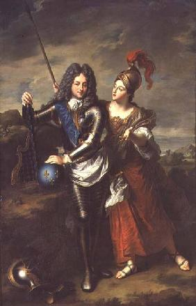 Philippe II d'Orleans (1674-1723) the Regent of France and Madame de Parabere as Minerva