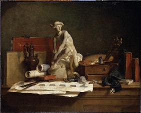 Chardin, Jean-Baptiste Sim�on : Still Life with Attributes...