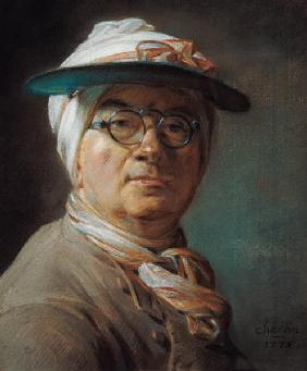 Self-portrait with glasses
