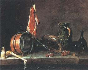 Chardin, Jean-Baptiste Sim�on : The meat day meal
