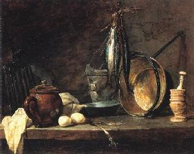 Chardin, Jean-Baptiste Sim�on : Shoot day meal the
