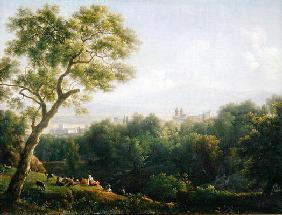 View of Frascati (oil on canvas)