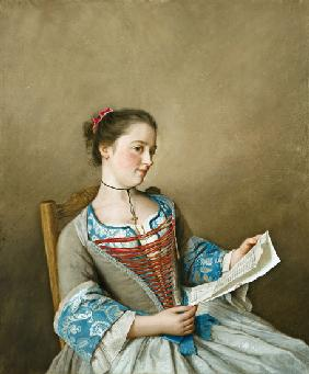 Portrait of Mlle Lavergne, the niece of the artist