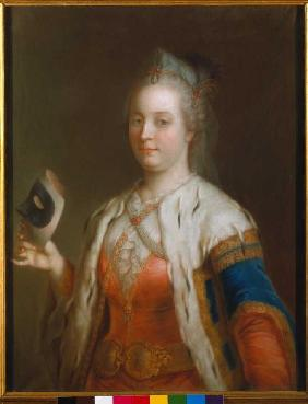 Empress Maria Theresia with mask