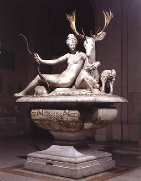 Diana mounted on a stag