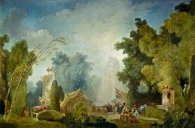 Fragonard, Jean Honor� : The feast in the park of S...