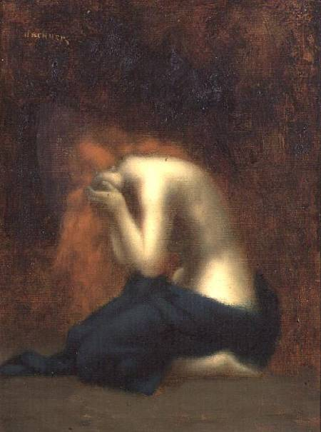 Solitude Jean Jacques Henner As Art Print Or Hand