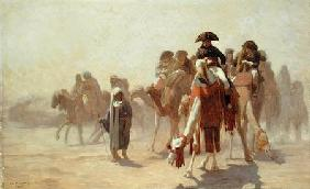 General Bonaparte (1769-1821) with his Military Staff in Egypt