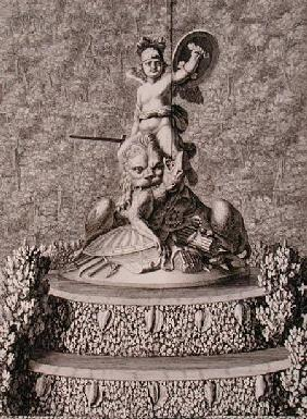 The 'Spirit of Valour' centrepiece of a fountain at Versailles, 1676