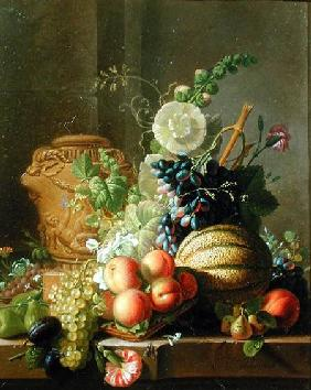 Still Life with Fruit on a Ledge