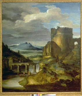 Landscape with a Roman monument (the morning)
