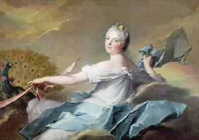 Portrait of Adelaide de France, as the element Air (oil on canvas)