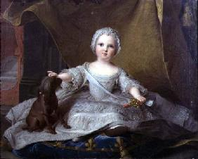 Portrait of Marie-Zephyrine (1750-55) of France with her Dog