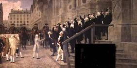 The Reception of Louis XVI at the Hotel de Ville by the Parisian Municipality in 1789
