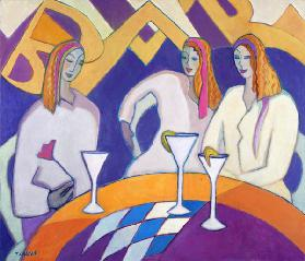 Girls Night Out, 2003-04 (acrylic on canvas)