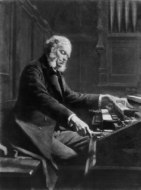 Cesar Franck at the console of the organ at St. Clotilde Basilica, Paris
