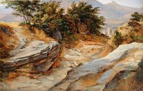 Italian Mountain Landscape, c.1824 (w/c on paper)
