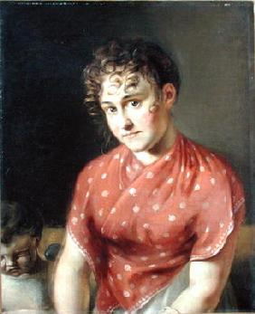 The Artist's Wife (oil on canvas)