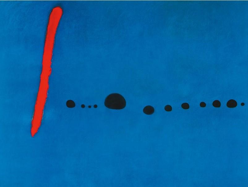 Blue II, 4-3-61 - (JM-276) - Joan Miro as art print or hand painted oil.