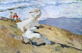 Sorolla, Joaquin : The Beach at Biarritz