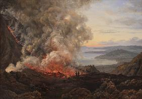 Dahl, Johan Christian Clausen : Eruption of the Volcano Ve...