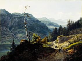 Dahl, Johan Christian Clausen : Valley in Valdres.