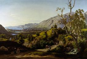 Dahl, Johan Christian Clausen : View of the city of mounta...