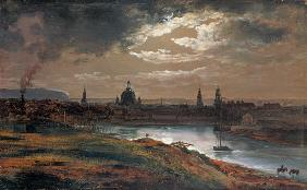 Dahl, Johan Christian Clausen : Look at Dresden at evening